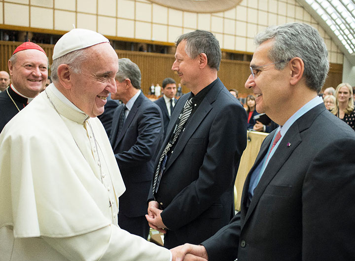 Ron with Pope Francis